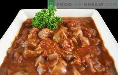 Goveji golaž v počasnem štedilniku - debela juha ali meso z omako? Najboljši recepti za goveji golaž v multivaku s paradižnikom, kislo smetano