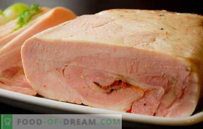 Piščančja in svinjska šunka doma - trgovina in ne blizu! Piščančja in svinjska recepti za domače šunke