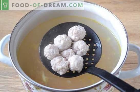 Juha z mletimi svinjskimi kroglicami: foto recept! Lahka in hranljiva juha za vso družino v 45 minutah