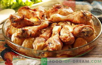 Piščančje krače s krompirjem v pečici so najljubši recepti. Kuhanje piščančjih palčk s krompirjem v pečici na različne načine