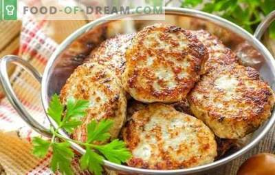 Piščančji kotleti: recepti po korakih, klasični in ne tako. Mleto meso in preprosti recepti za piščančje rezine po korakih
