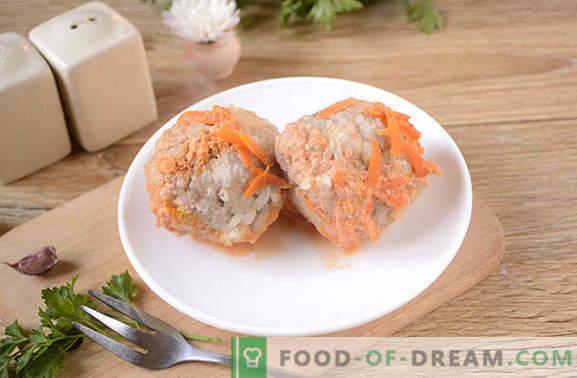 Mesne kroglice v omaki s paradižnikovo kislo smetano v počasnem štedilniku - nič ocvrtega! Postopek foto recepta za mesne kroglice v počasnem štedilniku iz mletega mesa z rižem