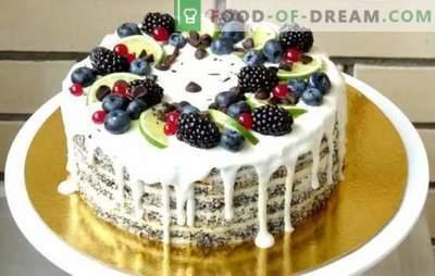 Sauerrahmkuchen: ein schrittweises Rezept für hausgemachte Köstlichkeiten. Vanille-, Schokoladen-, Gelee-Sahne-Sahne-Torten (Schritt für Schritt Rezepte)