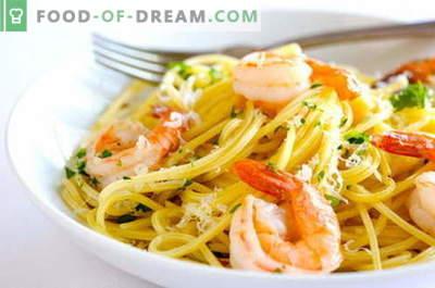 Testenine z morskimi sadeži - najboljši recepti. Kako kuhati testenine z morskimi sadeži.
