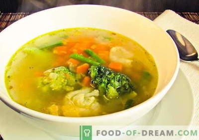 Juha iz cvetače - najboljši recepti. Kako pravilno in okusno kuhati cvetačo juho.
