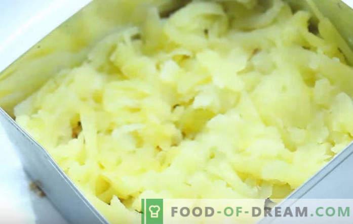 Mimoza salata konzervirani recept korak za korakom s fotografijami