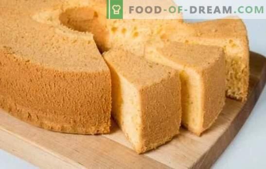 Tort de biscuiți din sifon - tandrețe în sine! Retete pentru diferite biscuiti din sifon: ciocolata clasica, cu seminte de mac, nuci