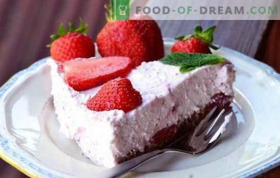 Ricotta torta je zdrava in okusna sladica! Recepti preprostih in ricotta peciv z želatino, jagodami, čokolado