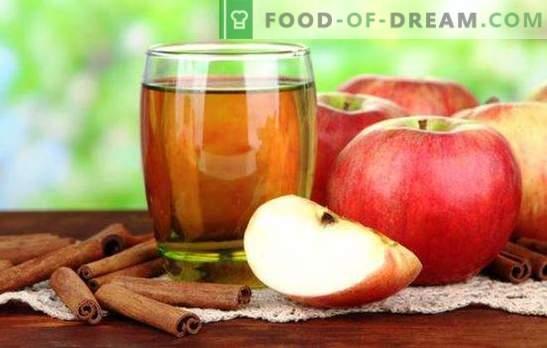 Сок од јаболка без соковник е корисен природен пијалок. Најдобри рецепти за сок од јаболка без соковници