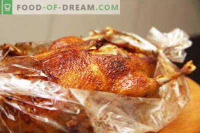 Goose up your sleeve - najboljši recepti. Kako kuhati in pravilno gos v rokav.
