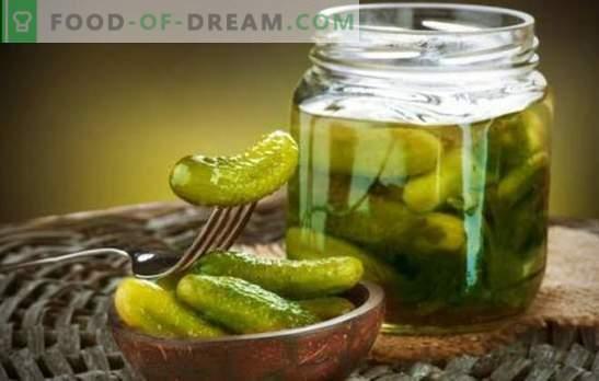 Hrustljavi kumarice za zimo - kako je lahko brez njih? Izbor tradicionalnih in novih receptov za hrustljane kumarice za zimo