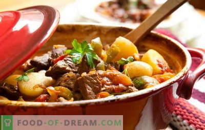 Рецепт за печено месо и компири за вистински гурмаџии! Печено месо и компири: во садови, во тава, во бавен шпорет