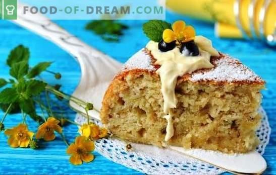 Banana torta v počasnem štedilniku - eksotični okus! Recepti in prefinjenosti kuhanja bananskih pite v počasnem štedilniku