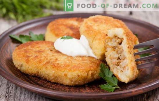 Krompir zrazy z mesom - idealna jed za prigrizke. Recepti krompirja zraz z mesom: v pečici in v ponvi
