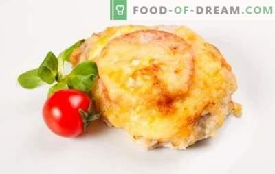 Svinjina s paradižnikom v pečici: vsestranska mesna jed. Kako kuhati svinjino s paradižnikom v pečici