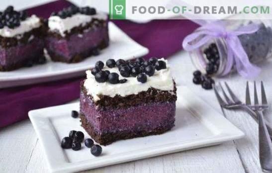 Torta z borovnicami je fantastična! Recepti za različne torte z borovnicami: s peko in brez, žele, skute, čokolade