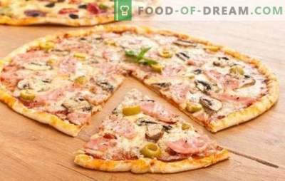 Pasta per pizza sottile: il segreto degli italiani! 7 migliori ricette per la pasta sottile: senza lievito e il solito lievito