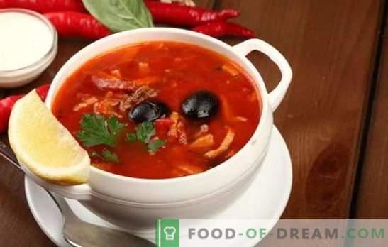 Solyanka s svinjino: različice tradicionalne juhe s svinjino, zelje, gobe. Kako narediti solyanka s krompirjem in rižem?