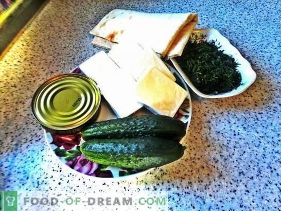 Lavash roll s topljenim sirom: proračunski prigrizek. Postopek fotografskega recepta pita kruha z raztaljenim sirom: preprost in okusen!