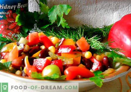 Mehiška solata - najboljši recepti. Kako pravilno in okusno kuhati mehiško solato.