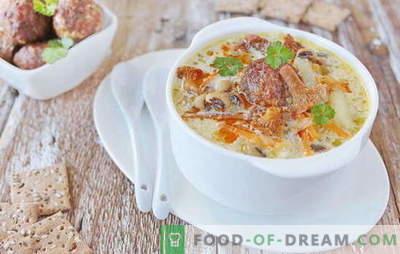 Juha s mesnimi kroglicami - zadovoljstvo! Različni recepti za juho s kroglicami in fižolom, rezanci, gobami, zelenjavo