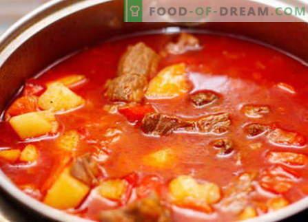 Svinjski golaž - najboljši recepti. Kako pravilno in okusno kuhati svinjski golaž.