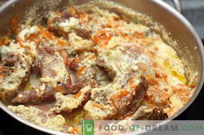 Zajec v kislo smetano - najboljši recepti. Kako pravilno in okusno kuhati zajec v kislo smetano.