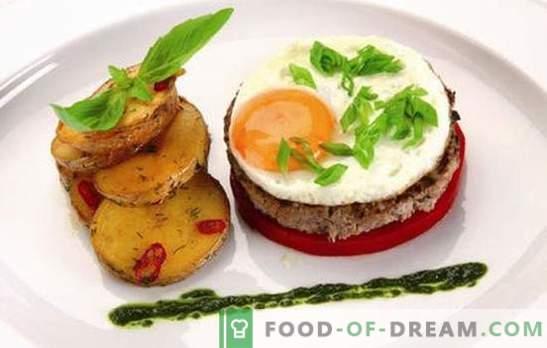 Biftek z jajcem: 2 v 1! Recepti različnih zrezkov z jajci iz govedine, svinjine, piščanca, riža, sladkorne pese, v francoščini
