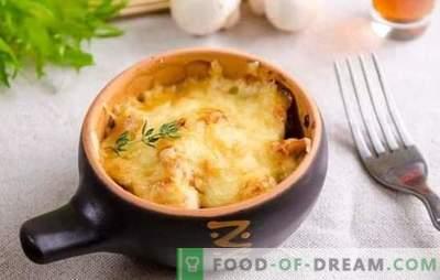 Amazing Julien: recepti za vašo najljubšo jed po korakih. Francoska Julienne piščančje, sveže in suhe gobe