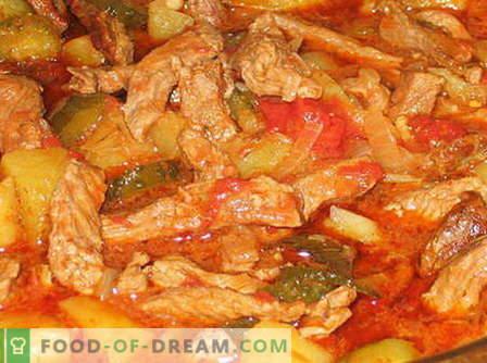 Govedina Azu - najboljši recepti. Kako pravilno in okusno kuhati ase govejega mesa