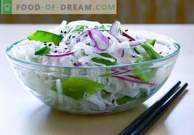 Daikon solate - pet najboljših receptov. Kako pravilno in okusno kuhati solate iz Daikon.