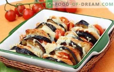 Pečena bučka in jajčevci v pečici sta koristna sekunda. Recepti bučke in jajcevcev v pecici s sirom, mletim mesom, piščancjo prsi