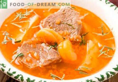 Jautienos sultinio sriuba - geriausi receptai. Kaip tinkamai ir skaniai virti sriuba ant jautienos sultinio.