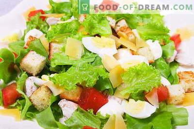 Caesar Salad - pravi recepti in sestavine. Kako kuhati omako (preliv) za solato