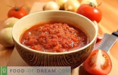 Adjika iz paradižnika brez česna za zimo: rezerva, ne bo vam žal! Različni adjiki recepti iz paradižnika brez česna za zimo