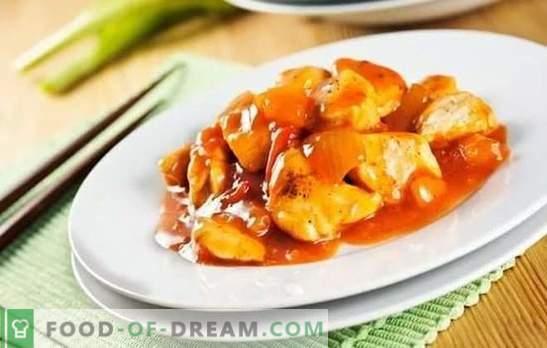 Pollo en salsa china - simple y oriental. Cocinando platos exóticos de pollo en salsa china en casa