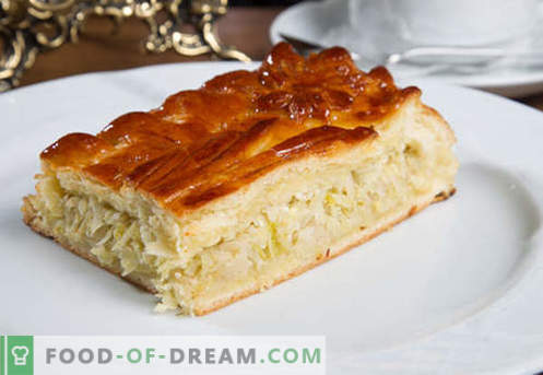 Kulebyaka with cabbage - the best recipes. How to properly and tasty cook pie with cabbage.