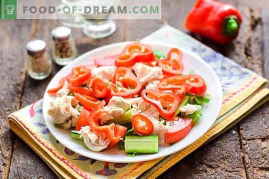 dietna solata s piščančjo prsi brez majoneze