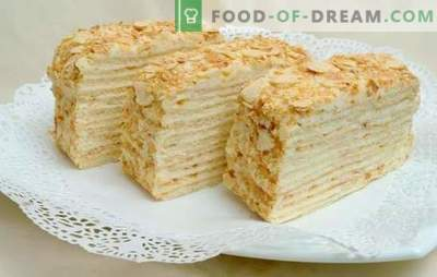 """Przepisy ciasta """"Napoleon"""" z czasów radzieckich z samym smakiem! Gotowanie, montaż, funkcje i przepisy na ciasta """"Napoleon"""" z czasów radzieckich"""