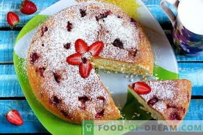 Charlotte z jagodami - 5 najboljših receptov. Kako pravilno in okusno kuhati jagodno jagodo (vključno s receptom brez peke!)