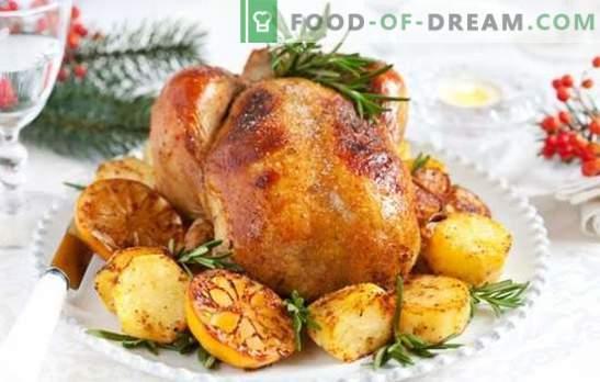 Dinde et pomme de terre: Un plat polyvalent pour une table de fête et un dîner en famille. Façons de faire cuire la dinde avec des pommes de terre