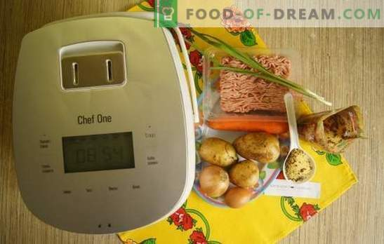 Foto recept za juho s mesnimi kroglicami v počasnem štedilniku: kosilo za eno uro. Enostavna juha z mesnimi kroglicami in kuskusom v počasnem štedilniku: recept za korak za korakom