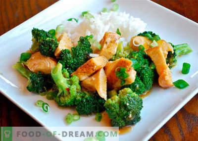 Brokoli piščanec - najboljši recepti. Kako pravilno in okusno kuhati piščanca z brokoli.