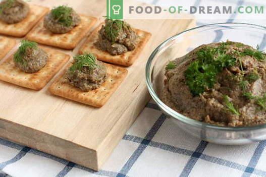 Gobasta pašteta - najboljši recepti. Kako pravilno in okusno kuhamo gobasto pašteto.