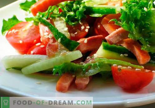 Rastlinske solate - pet najboljših receptov. Kako pravilno in slastno pripraviti solate z rastlinskim oljem.