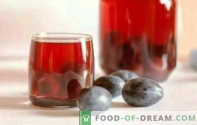 Kompot češpelj in grozdja - zdravo pijačo vse leto. Dišeči kompot iz sliv in grozdja se ne dogaja veliko