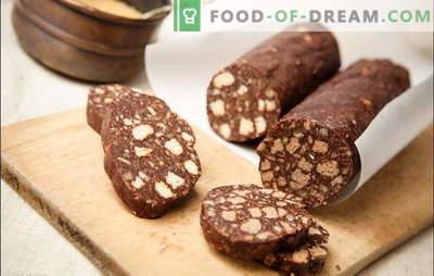 Kuhana klobasa - nepozaben okus! Sladka klobasa iz piškotov s kondenziranim mlekom, skuto, oreški, suho sadje