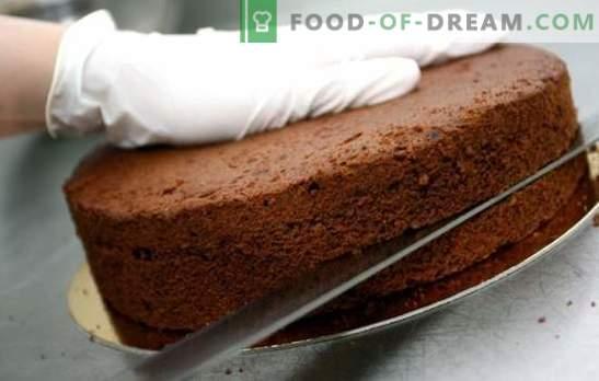 Торти за колачи - едноставни рецепти од бисквит, тесто од воздух и бадем. Едноставни колачи за торта: тајни за готвење