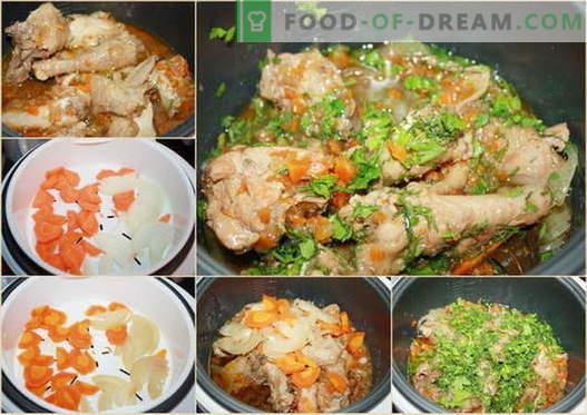 Piščanec v počasnem štedilniku - najboljši recepti. Kako kuhati piščanca v počasnem štedilniku.