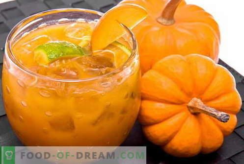 Тиквен сок - най-добрите рецепти. Как правилно и вкусно да готвя здрав сок от тиква